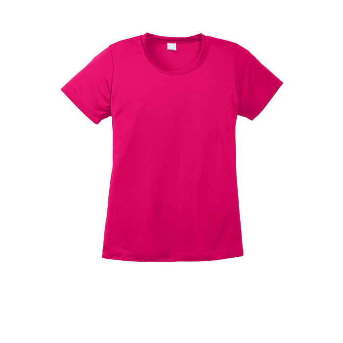 Pink Raspberry Custom Ladies Dry Performance T-Shirt