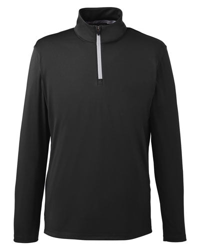 Puma Black Red Custom Puma Golf Men's Icon Quarter-Zip