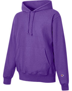 Purple Custom Champion Heavyweight Hooded Sweatshirt