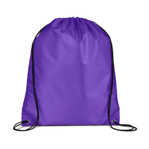 Purple Custom Drawstring Backpack