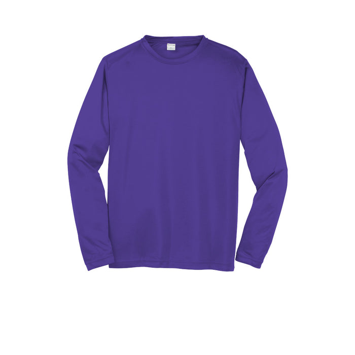 Purple Custom Long Sleeve Dry Performance T-Shirt