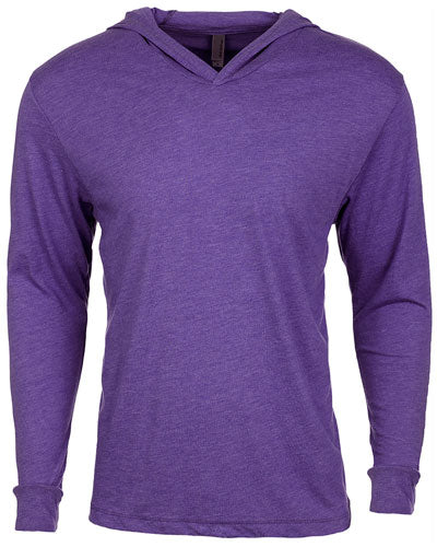 Purple Rush Custom Next Level Adult Triblend Long-Sleeve Hoody