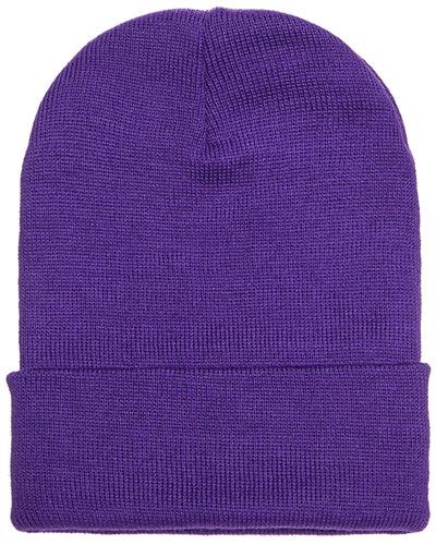 Purple Custom Yupoong Knit Cap