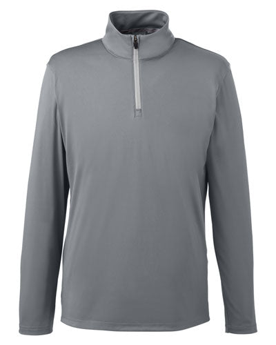 Quiet Shade Red Custom Puma Golf Men's Icon Quarter-Zip