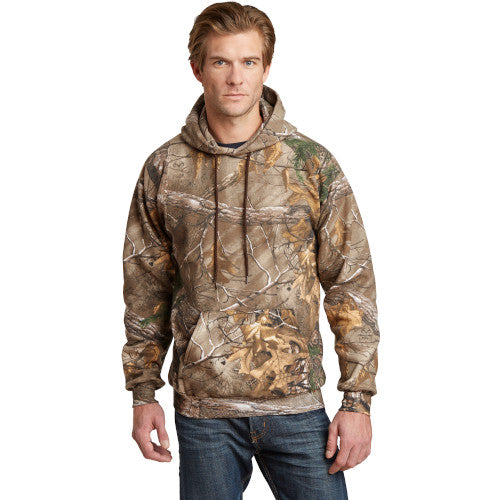Realtree Xtra Custom Russell Realtree Hooded Sweatshirt with logo