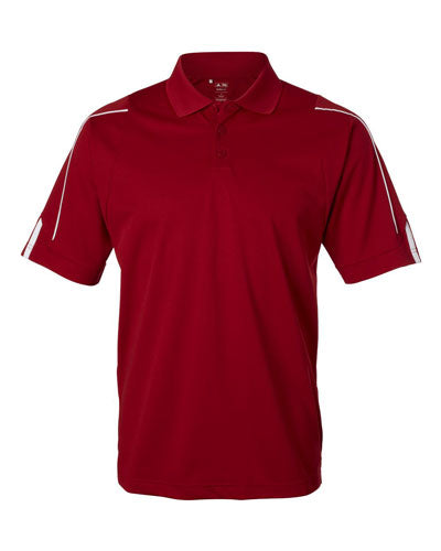 Red Custom Adidas 3 Stripe Cuff Polo