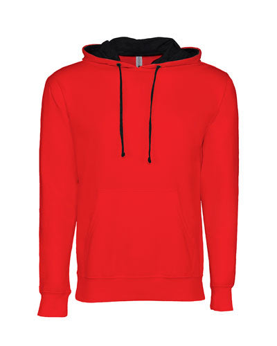 Red/ Black Custom Next Level Unisex French Terry Pullover Hoody