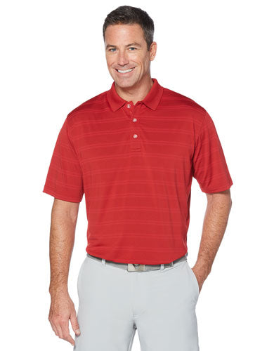 Red Custom Callaway Textured Performance Polo