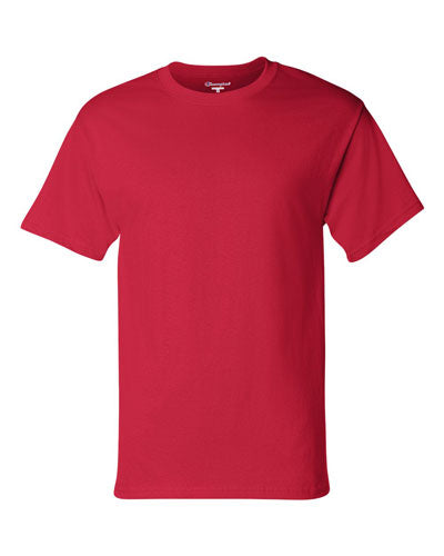 Red Custom Champion Short Sleeve T-Shirt