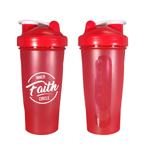 Red Custom Blender Bottle
