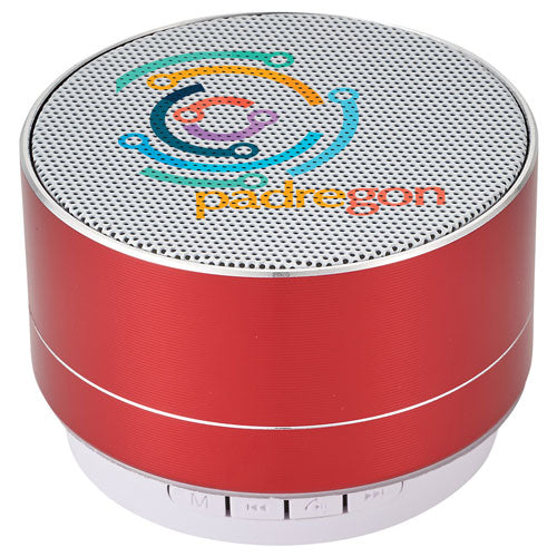 Red Custom Bluetooth Speaker with logo