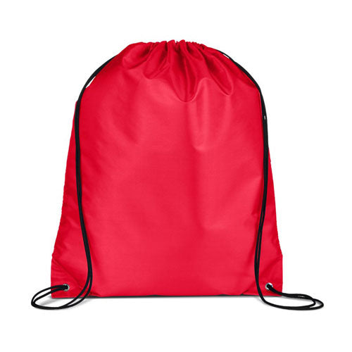 Red Custom Drawstring Backpack