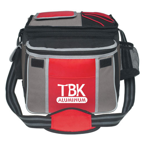 Red Custom Flip Top Insulated Cooler Bag
