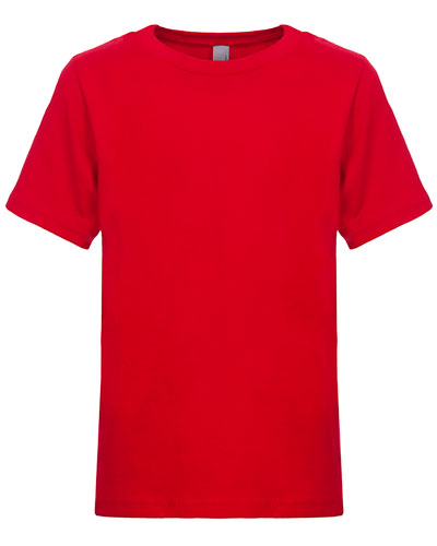 Red Custom Next Level Youth Boys' Cotton Crew