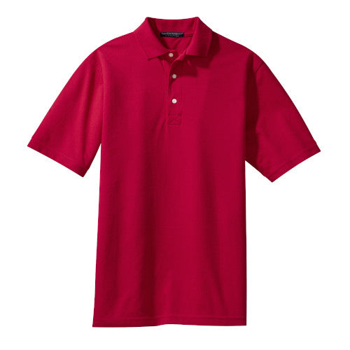 Red Rapid Dry Polo With Logo