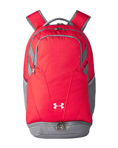 Red/ Silver  Custom Under Armour Unisex Hustle II Backpack