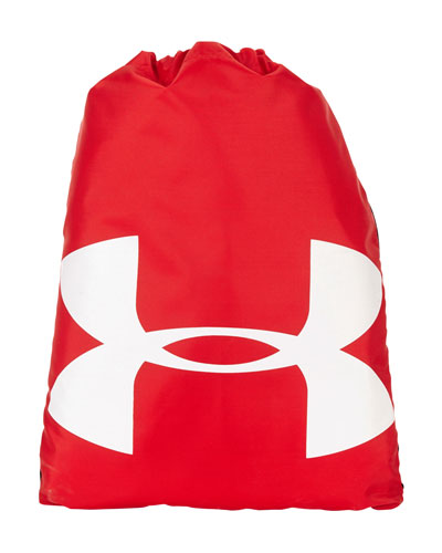 Red Custom Under Armour Cinch Sack