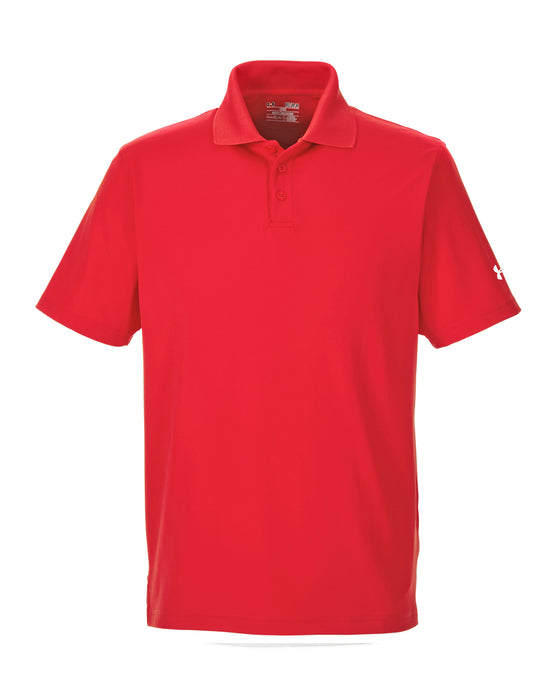 Red Custom Under Armour Performance Polo With Logo