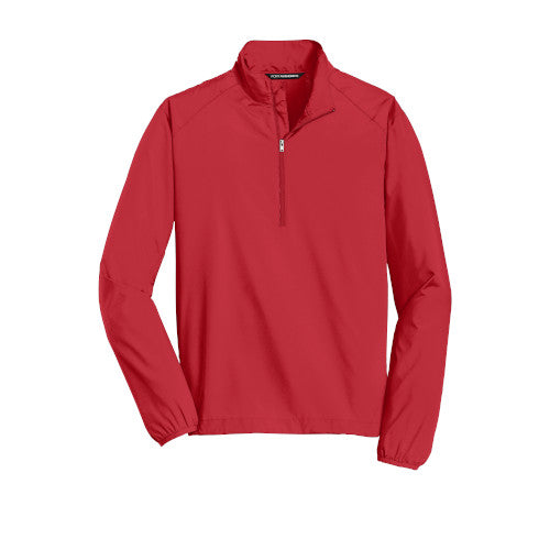 Rich Red Custom Half Zip Windshirt Jacket
