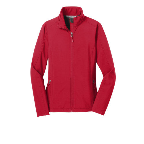 Rich Red Custom Ladies Soft Shell Jacket