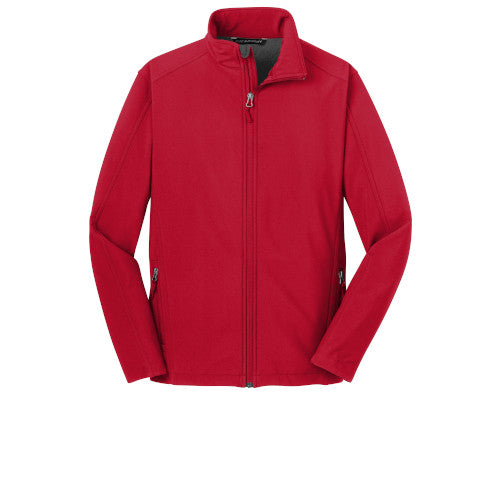 Rich Red Custom Men's Soft Shell Jacket