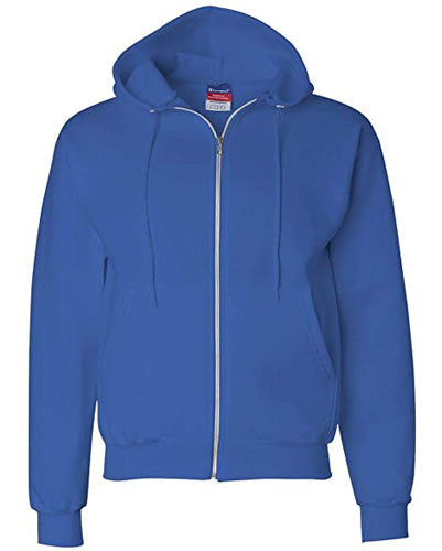 Royal Blue Custom Champion Full Zip Hoodie Sweatshirt