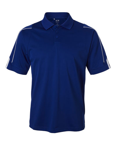 Royal Custom Adidas 3 Stripe Cuff Polo
