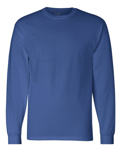 Royal Blue Custom Champion Long Sleeve T- Shirt