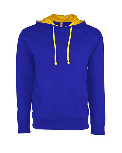 Royal/ Gold Custom Next Level Unisex French Terry Pullover Hoody