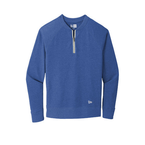 Royal Heather Custom New Era Sueded Cotton Blend 1/4-Zip Pullover