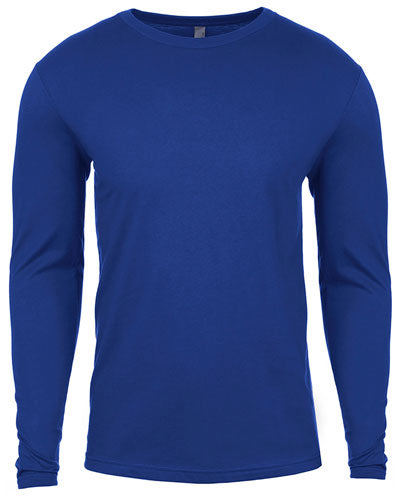 Royal Custom Next Level Men's Cotton Long-Sleeve Crew