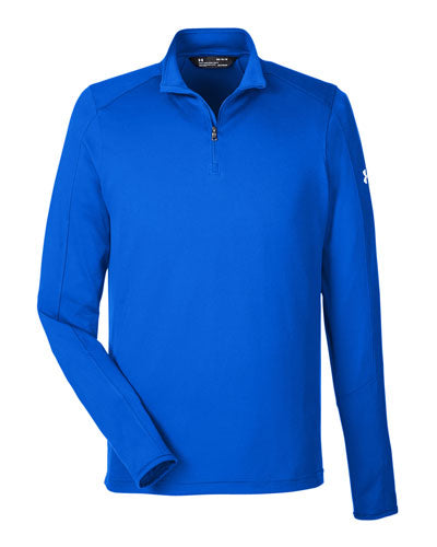 Royal/ White Custom Under Armour Men's UA Tech™ Quarter-Zip