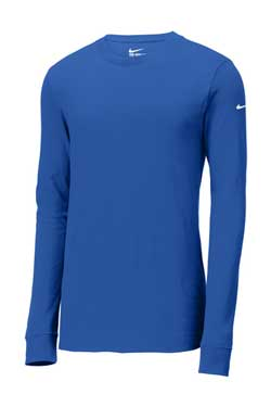 Rush Blue Custom Nike Cotton Long Sleeve Tee