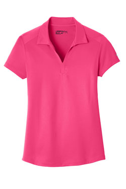 Rush Pink Nike Ladies Dri-FIT Legacy Polo With Logo