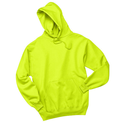Safety Green Custom Jerzees Hooded Sweatshirt