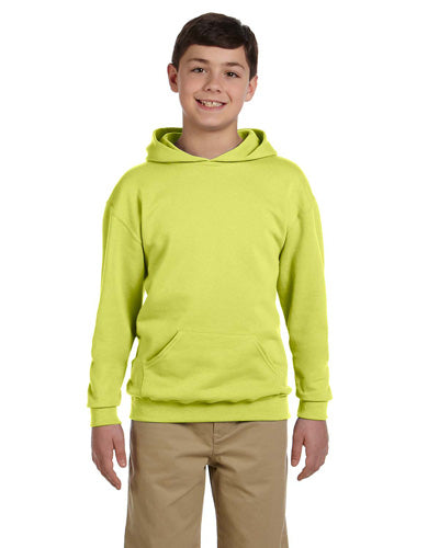 Safety Green Custom Jerzees Youth Hooded Sweatshirt
