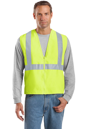 Safety Green/Reflective Custom Safety Green Reflective Vest with logo
