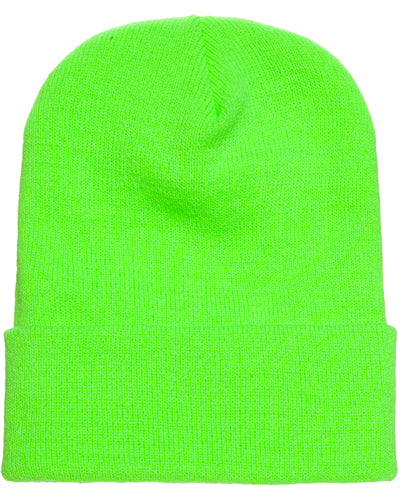Safety Green Custom Yupoong Knit Cap