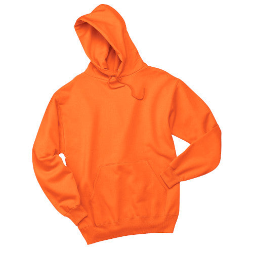 Safety Orange Custom Jerzees Hooded Sweatshirt