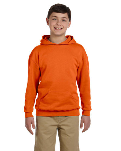 Safety Orange Custom Jerzees Youth Hooded Sweatshirt