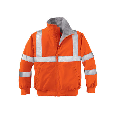 Safety Orange/Reflective Custom Reflective Safety Jacket