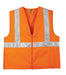 Safety Orange/Reflective Custom Safety Orange Reflective Vest