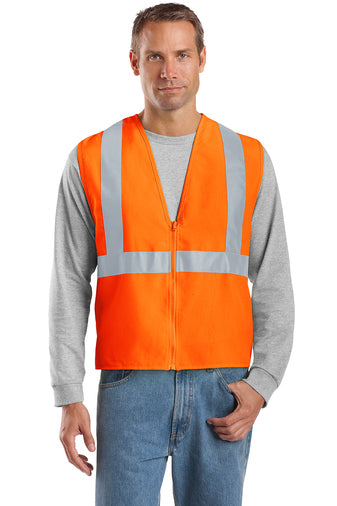 Safety Orange/Reflective Custom Safety Orange Reflective Vest with logo