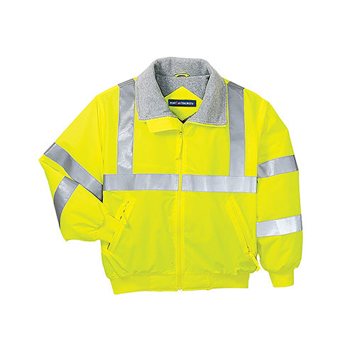 Safety Yellow/Reflective Custom Reflective Safety Jacket