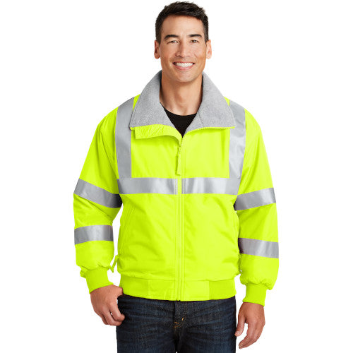 Safety Yellow/Reflective Custom Reflective Safety Jacket with logo