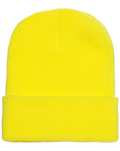 Safety Yellow Custom Yupoong Knit Cap