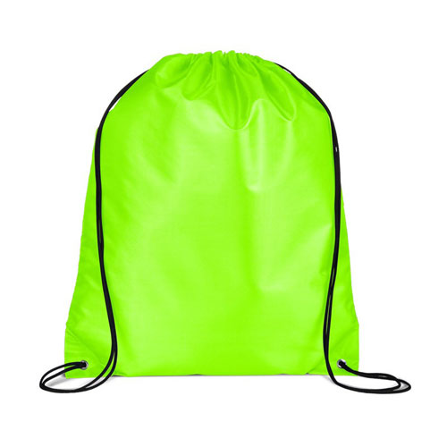 Safety Green Custom Drawstring Backpack