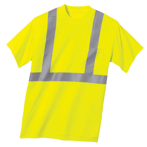 Safety Green/Reflective Custom Safety Green Reflective T-Shirt