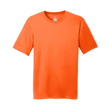 Safety Orange Custom Hanes Cool DRI Performance T-Shirt