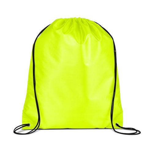 Safety Yellow Custom Drawstring Backpack